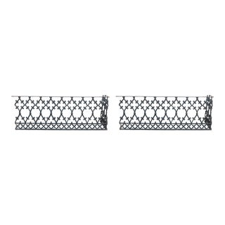 Antique Cast Iron Balcony-Fence Corners 19th Century For Sale
