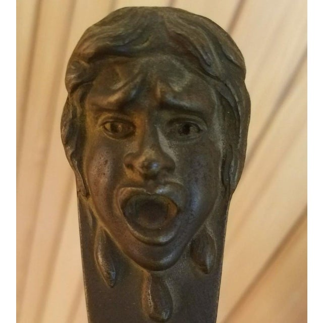 Metal 1900s Neoclassical Bust of a Gladiator For Sale - Image 7 of 11