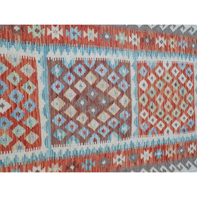 Handmae Vegetable Dyed Kilim Runner- 2′9″ × 9′6″ - Image 4 of 5