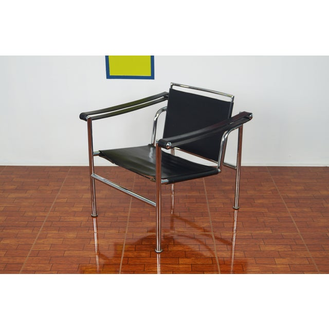 Vintage Leather & Chrome Chair - Image 3 of 7