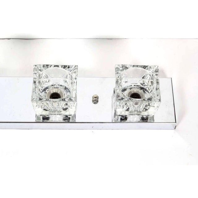 Mid-Century Modern Cubist Wall Light in Chrome by Gaetano Sciolari, Italy For Sale - Image 9 of 10