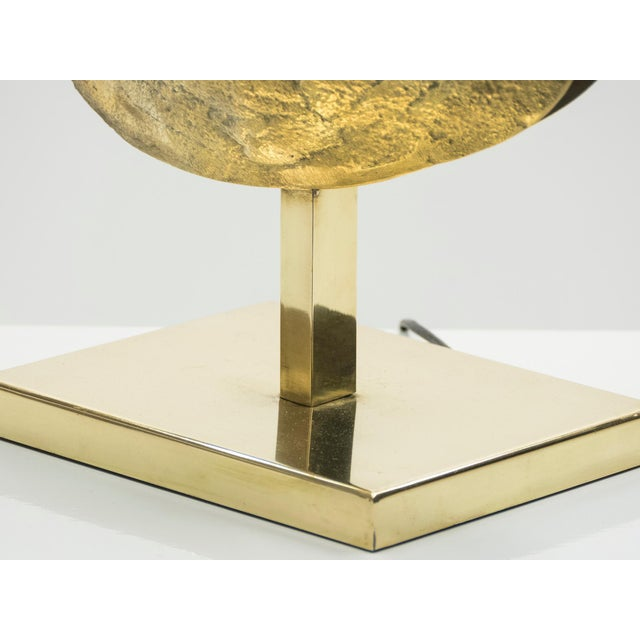 Large Belgian Willy Daro Table Lamp in Brass and Bronze, 1970s For Sale - Image 10 of 13