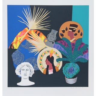 "1980s Hunt Slonem, ""Three Goddesses and Fallen God"", Pop Art Screenprint For Sale"