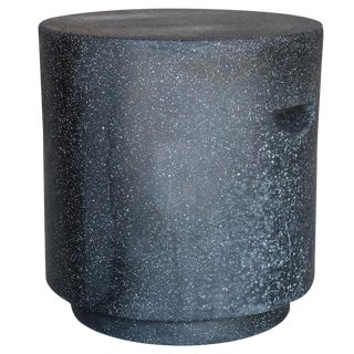 Cast Resin 'Aileen' Side Table in Coal Stone Finish by Zachary A. Design For Sale