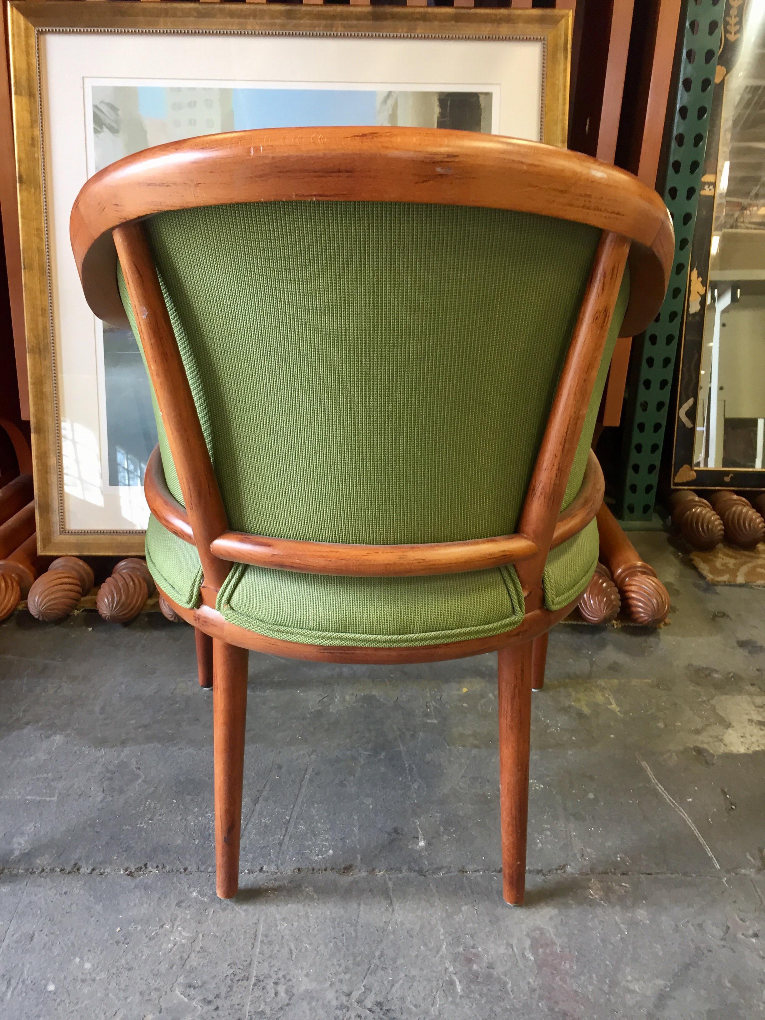 Green Corduroy U0026 Bent Wood Chair For Sale   Image 5 ...