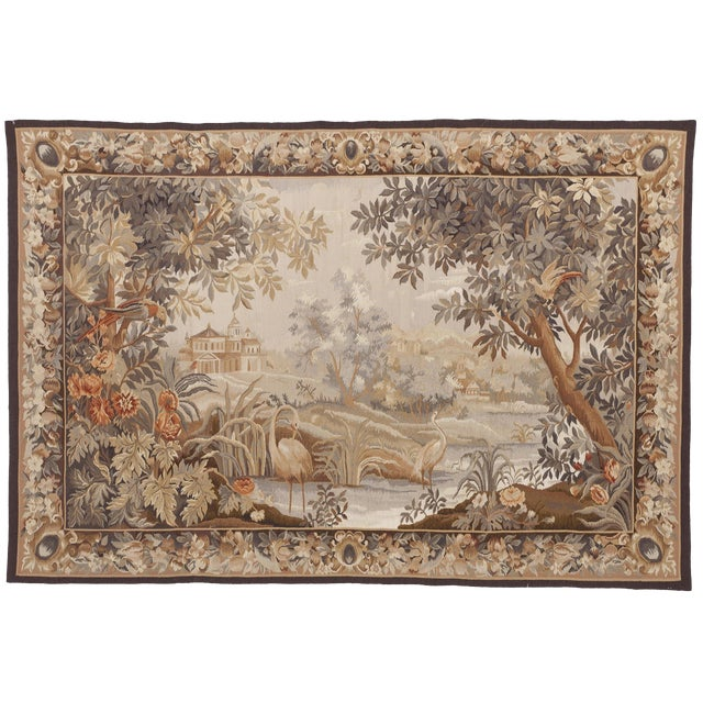 """Chineses Abusson Style Tapestry. 4'x 5'8"""" For Sale"""