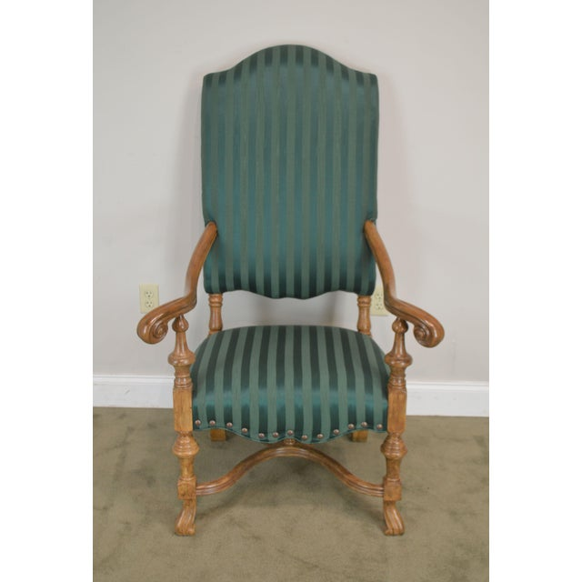 Spanish Baroque Style Custom Quality Pair of Throne Armchairs For Sale - Image 4 of 13
