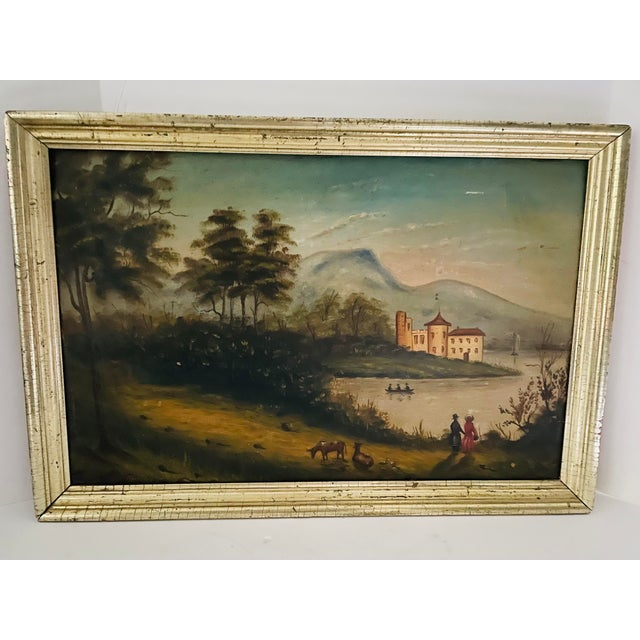 Antique Oil Painting of Landscape For Sale - Image 13 of 13