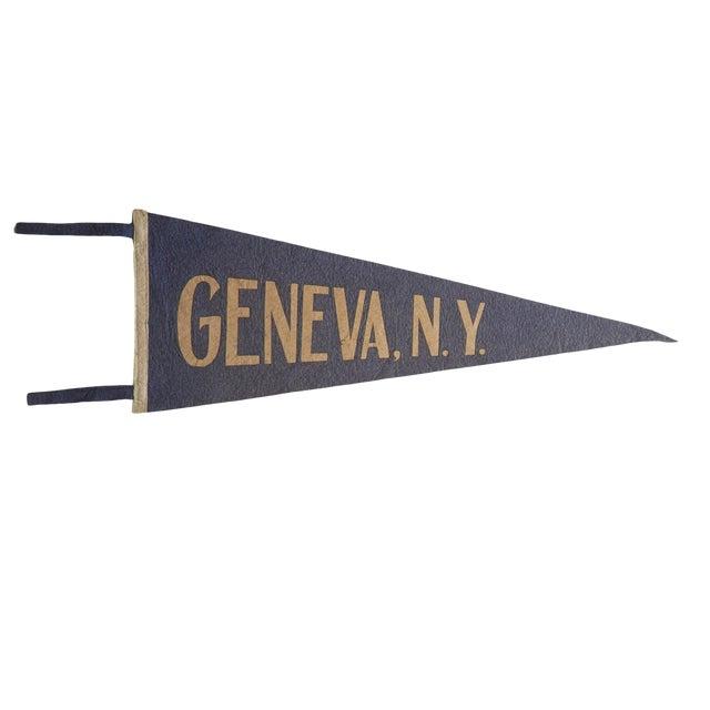 Vintage Geneva, n.y. Felt Flag Pennant For Sale