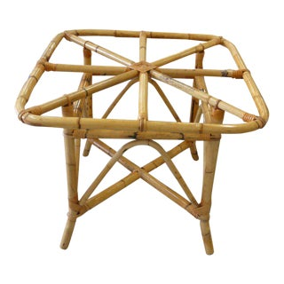 Island Style Burnt Bamboo Dining Table For Sale