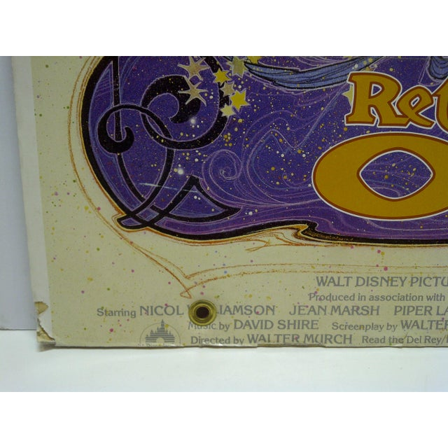 """Walt Disney's Return to Oz"" Mounted Original Movie Poster For Sale - Image 5 of 6"