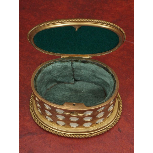"Charles X Gilt and Mosaic Jewelry Box, Signed ""Tahan, Paris"" - Image 5 of 9"