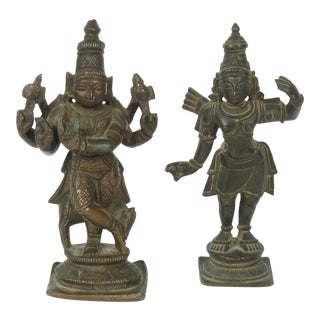 Hindu Bronze Figures - Set of 2 For Sale