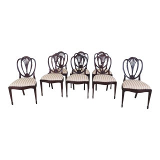 Set of 8 Hickory White Co. Mahogany Dining Room Chairs For Sale