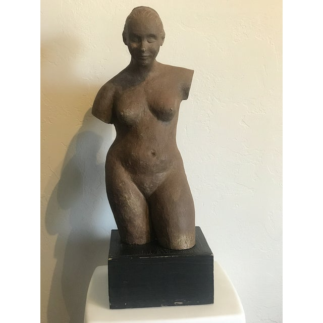 Clay Nude Woman Terracota Sculpture For Sale - Image 7 of 7