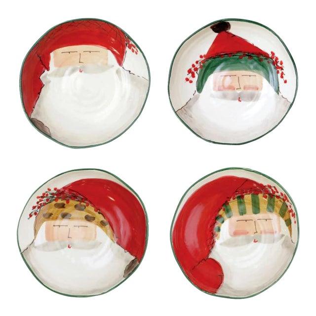 Kenneth Ludwig Chicago Old St. Nicks Ceramic Past Bowls - Set of 4 For Sale