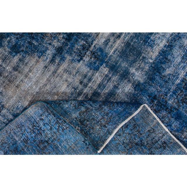 "Apadana - Vintage Overdyed Rug, 12'9"" X 9'5"" For Sale - Image 4 of 6"