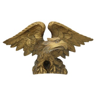 Antique Hand-Carved Eagle Pediment For Sale