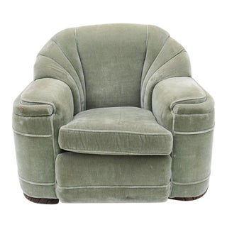 1940s Art Deco Mohair Club Chair