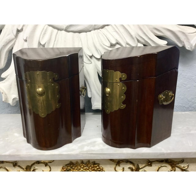 Early 20th Century Antique Mahogany Knife Document Boxes - A Pair For Sale - Image 4 of 11