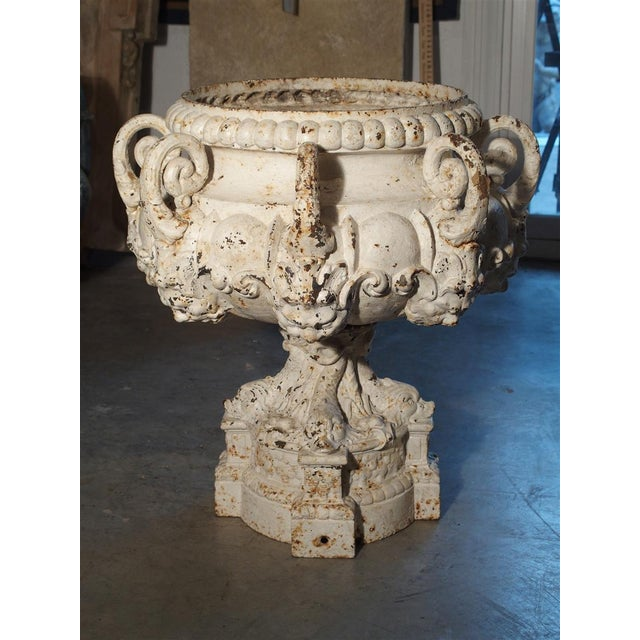 19th Century 8-Spout Painted Cast Iron Fountain Element From France For Sale - Image 9 of 12