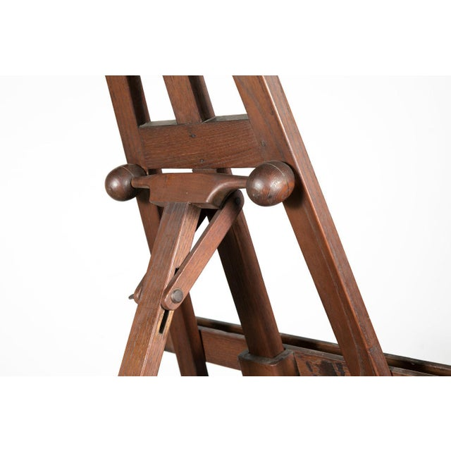 20th Century French Adjustable Oak Painters Easel For Sale - Image 4 of 10