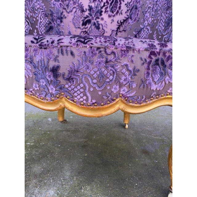 Late 19th Century Vintage Italian Giltwood Chair For Sale - Image 10 of 13