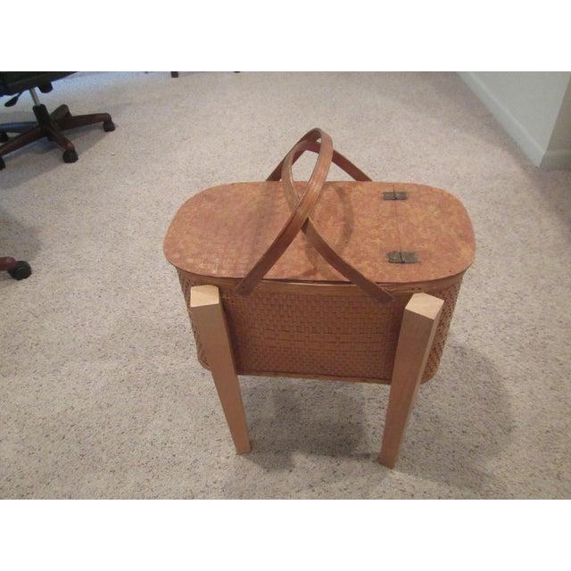 Vintage Picnic Basket Side Table - Image 2 of 11