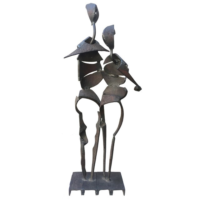 Brutalist Iron Sculpture by Marcus White - Image 3 of 9