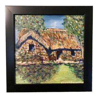 Nancy T. Van Ness Irish Home Original Oil Painting For Sale