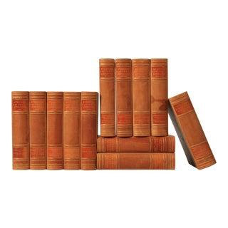 Scandinavian Leather-Bound Books S/12
