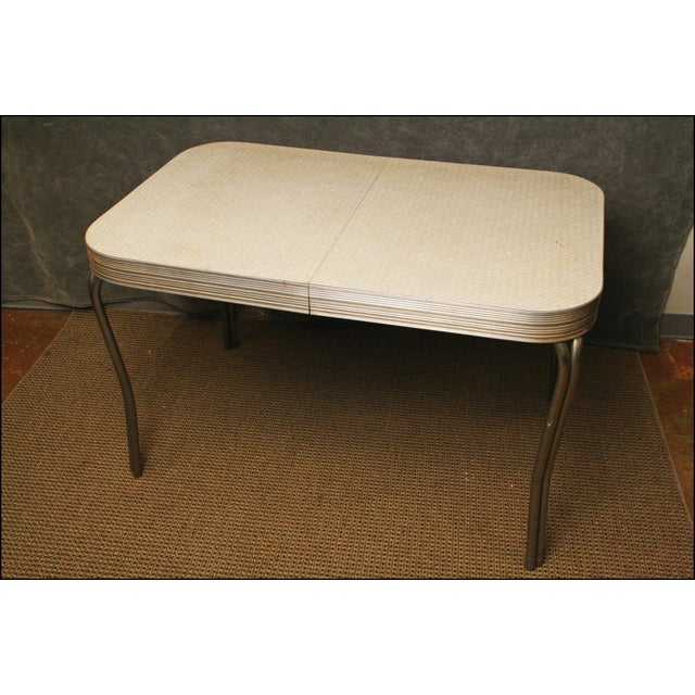Mid-Century Modern White Formica Dinette Table - Image 11 of 12