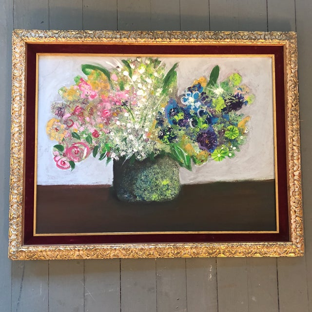 Blue Original Contemporary Artist Amy Nero Floral Still Life For Sale - Image 8 of 8
