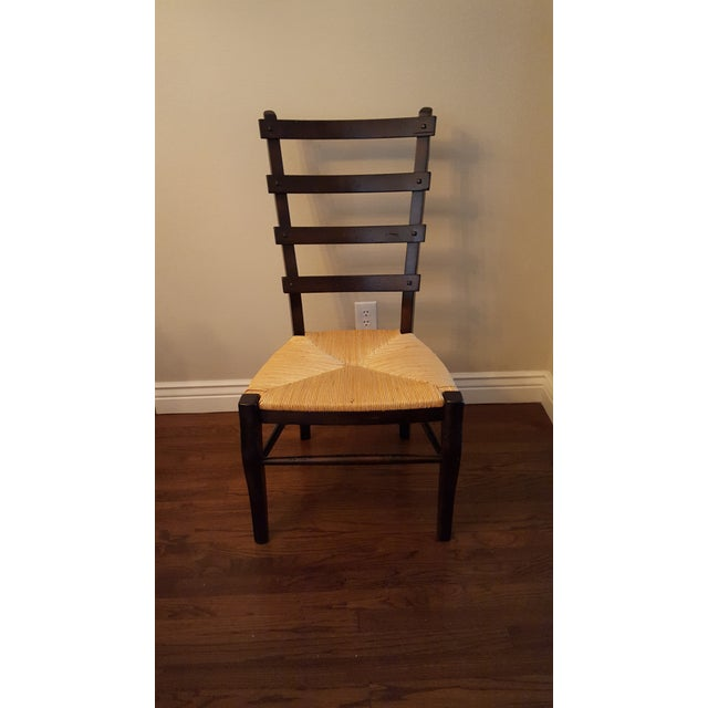 Ladder-Back Dining Chairs With Rush Seats - S/4 - Image 4 of 4