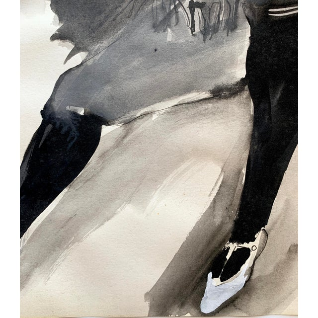 Figurative 1960s Watercolor & Gouache by Laura Smith For Sale - Image 3 of 5