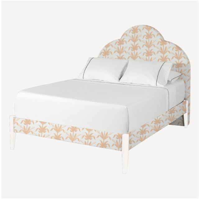 Modern The Crown Bed - Queen - Kate - Palm/Shell Pink + White Legs For Sale - Image 3 of 3