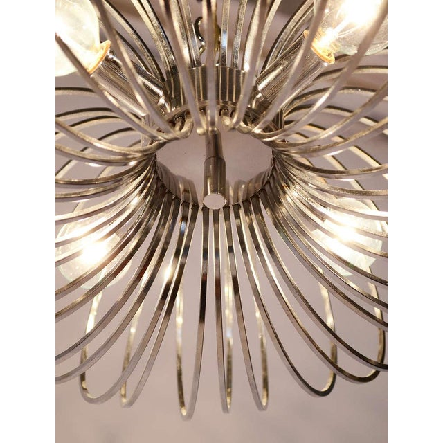 "Gold Gaetano Sciolari ""Cage"" pendant lamp by Lightolier For Sale - Image 8 of 11"