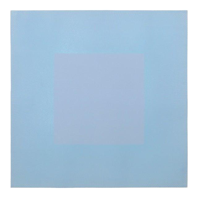 "Richard Anuzkiewicz, ""Winter Suite"" (Light Blue & Blue), Op Art Etching For Sale"