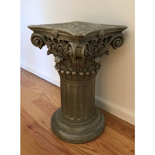 Resin Vintage Universal Statuary Neoclassical Resin Column Pedestal For Sale - Image 7 of 9