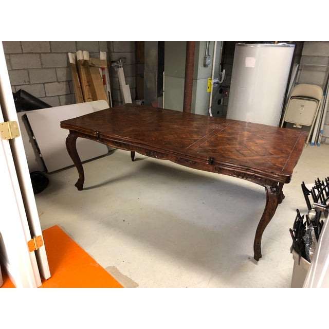 French Provencale Style Parquet Dining Table For Sale - Image 12 of 12