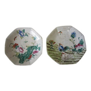 Early Chinese Porcelain Plates - a Pair For Sale