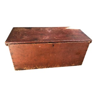 19th Century Antique Board Blanket Chest For Sale