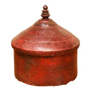 Large Turned Tibetan Tikka Box For Sale