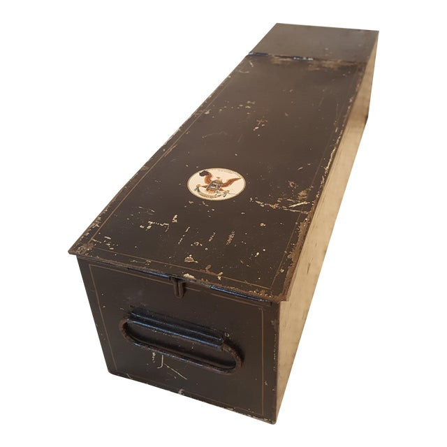 Antique Bank Safety Deposit Box For Sale