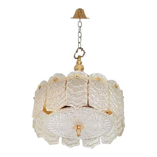 Decorative Glass Chandelier by Camer For Sale