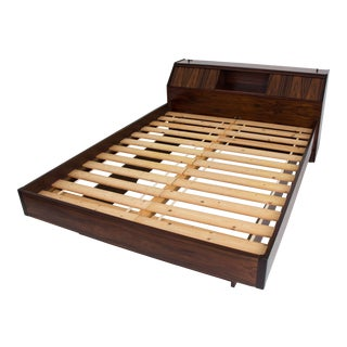 Westnofa Rosewood Bed Frame with Headboard Storage