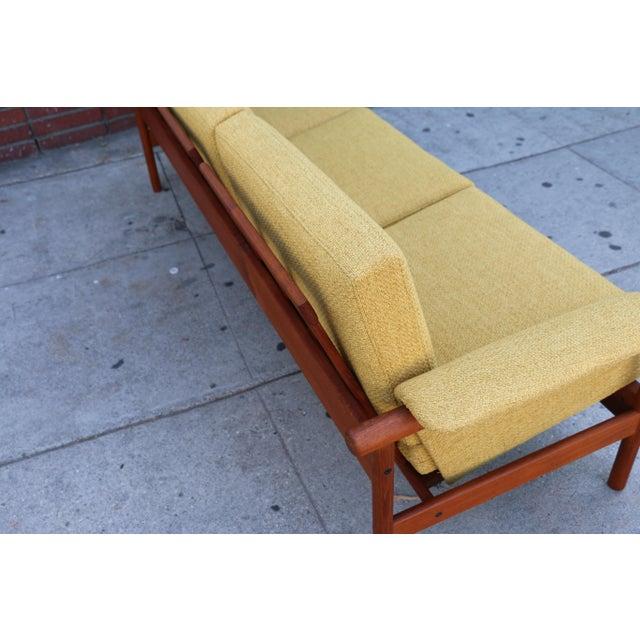 Mid Century Modern Mustard Sofa For Sale - Image 11 of 11