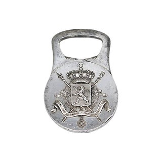 Christofle Crest & Crown Bottle Opener For Sale