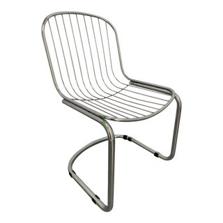 Vintage Mid Century Gastone Rinaldi Chrome Cantilever Chair For Sale