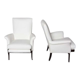 1950's Parker Knoll English Lounge Armchairs - a Pair